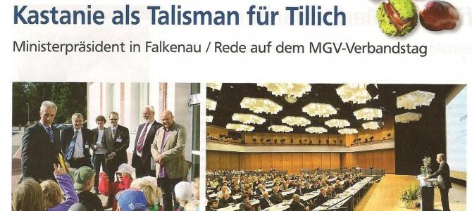 Prominenter Kunde im Dorfladen Falkenau